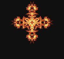 Energetic Geometry -  Phoenix Sigil Cross of Fire Womens Fitted T-Shirt