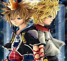 Kingdom Hearts - Sora And Roxas - 2 Light by Dnx-Drift