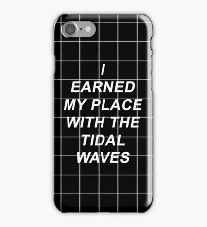All Time Low Mark Hoppus Tidal Waves Lyrics iPhone Case/Skin