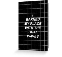 All Time Low Mark Hoppus Tidal Waves Lyrics Greeting Card