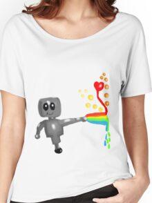Rainbow Robot  Women's Relaxed Fit T-Shirt