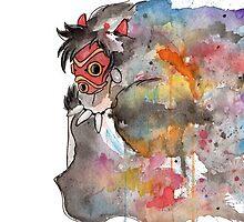 Rainbow Princess Mononoke by AAMurray