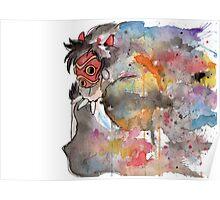 Rainbow Princess Mononoke Poster