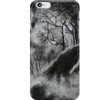 Black and White Forest in Clouds iPhone Case/Skin