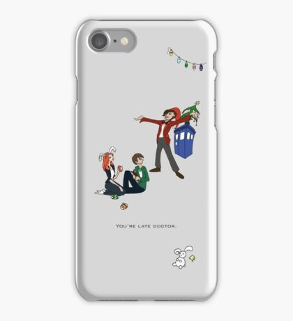 The Doctor is Late iPhone Case/Skin