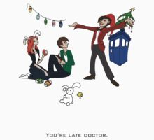 The Doctor is Late Kids Tee