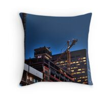 Lunar Construction Throw Pillow