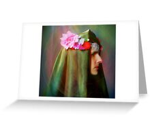 Lady of The Flowers Greeting Card