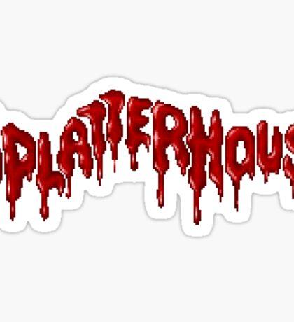 Splatterhouse - SEGA Genesis Title Screen Sticker