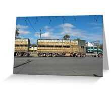 Cattle Truck on the Move Greeting Card
