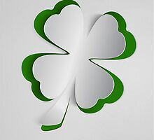 3D shamrock from green paper by lantica