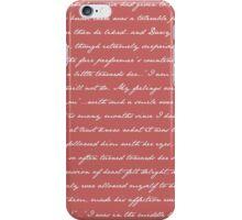 Pride and Prejudice Quotes iPhone Case/Skin