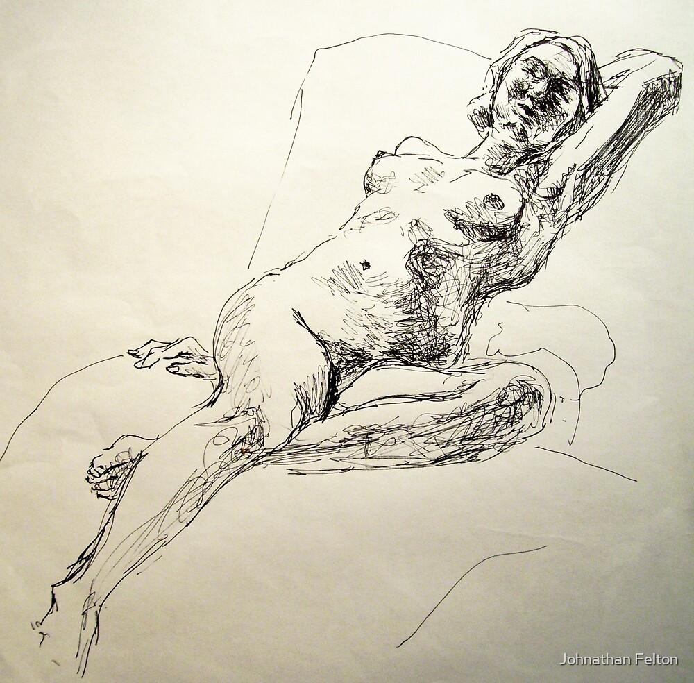 Jen reclining in lounge by Johnathan Felton