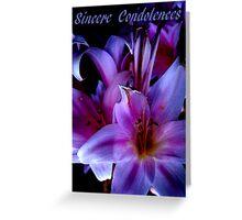 Sincere Condolences Greeting Card