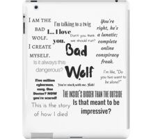 Rose Tyler- Bad Wolf iPad Case/Skin
