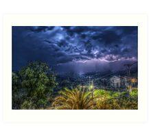 HDR Thunderstorm Art Print