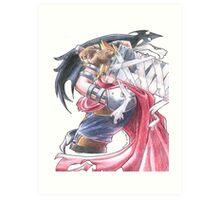 Cloud Strife - Kingdom Hearts (2) Art Print