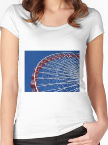 Red, White & Blue Wheel Women's Fitted Scoop T-Shirt