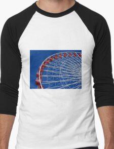 Red, White & Blue Wheel Men's Baseball ¾ T-Shirt