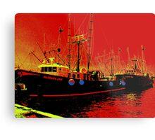 Fishing Boats, Point Judith, RI, USA Metal Print