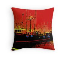 Fishing Boats, Point Judith, RI, USA Throw Pillow