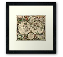 World Map Framed Print