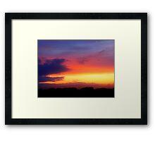 August Sunset, Point Judith, RI, USA (2) Framed Print