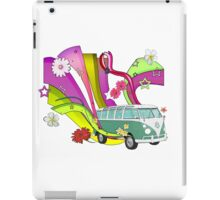 60's Van with Foulli and Gerbera in White iPad Case/Skin