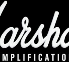 Marshall Amplification on black Sticker
