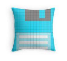Blue Sprite Floppy Disk Throw Pillow