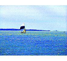 Sailing Off Block Island Photographic Print