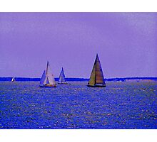 Sailing Off Block Island (2) Photographic Print