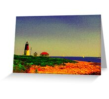 Point Judith Lighthouse, RI, USA Greeting Card