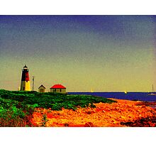 Point Judith Lighthouse, RI, USA Photographic Print