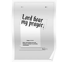 Lord Hear My Prayer Poster
