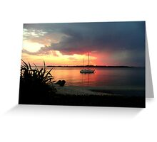 """""""Hot"""" August Night Greeting Card"""