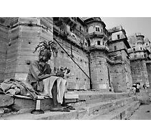 Pilgrim at Banares,Varanasi,India 2004. Photographic Print