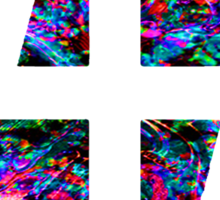 47 (4th and 7th Chakra) ACID LSD RAIN Sticker