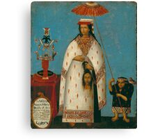 Peruvian Princess Canvas Print