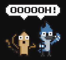 "Regular Show ""OOOH"" Pixel Art Kids Clothes"