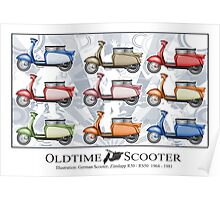Oldtimer Scooter R50 Variations Poster