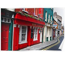 Colorful Narrow Street in Kinsale Poster