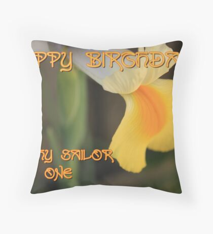 Happy Birthday dinghysailor1 !! Throw Pillow