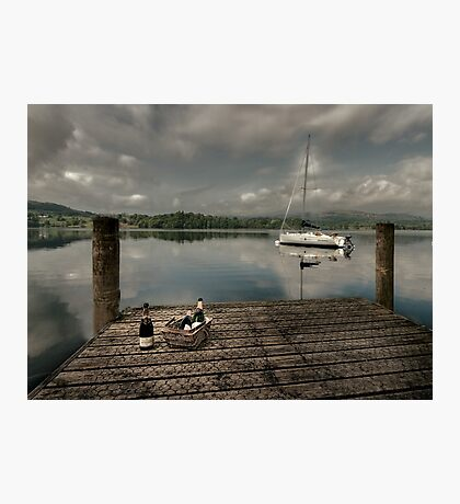 Champagne Yacht Photographic Print