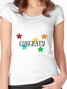 Congratulations! Stars! Women's Fitted Scoop T-Shirt