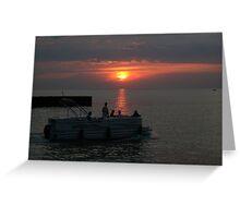Night on the lake Greeting Card