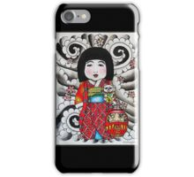 Ichimatsu ningyo, maneki neko and daruma doll  iPhone Case/Skin