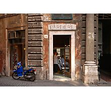 Barbiere - Rome, Italy Photographic Print