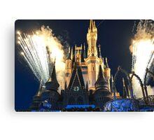 Cinderella Castle fireworks Canvas Print
