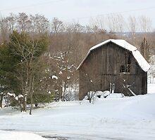 ole barn in the snow by 40DFloyd